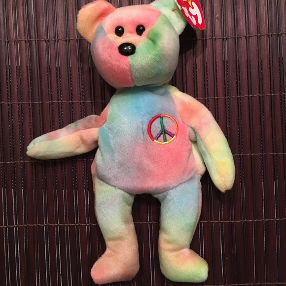 b7c9212e5df Ty Beanie Baby Peace Bear-Excellent condition
